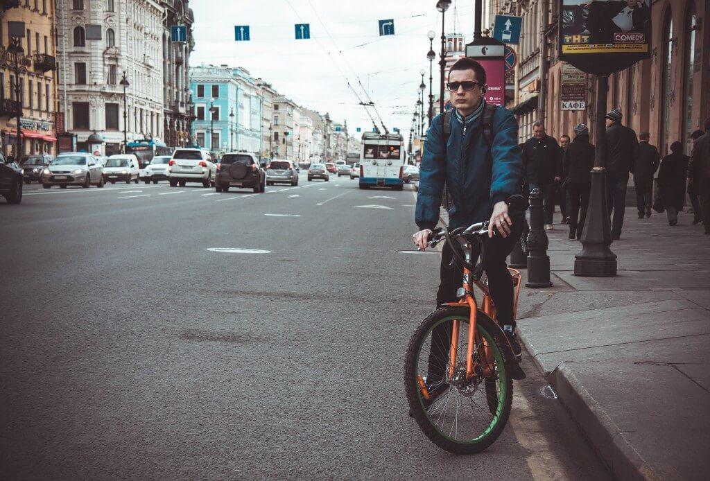 So langsam wird das Radfahren in St. Petersburg cool