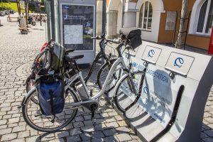 E-Bike Ladestation auf der Radrunde Allgäu