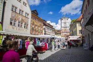 Die tolle Altstadt von Wangen entlang der Radrunde Allgäu.