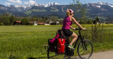 Immer mit dabei bei der Radrunde Allgäu: Schöne Aussichten auf das Alpen Panorama.