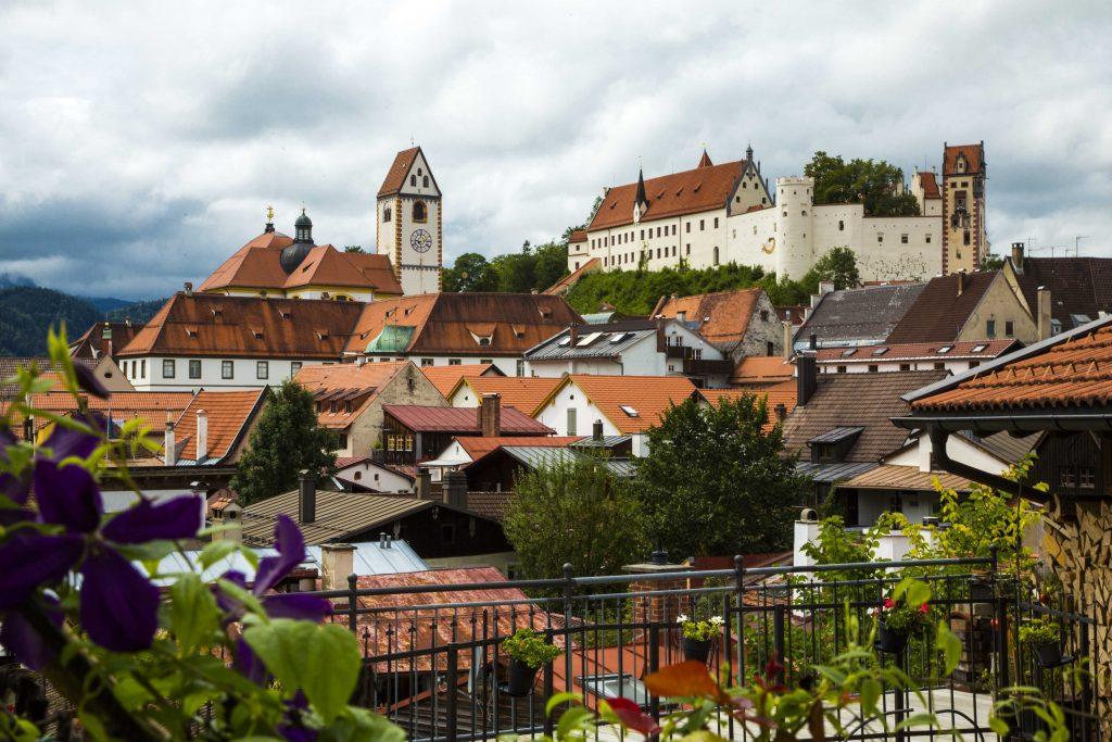 Blick vom Franziskaner Kloster in Füssen